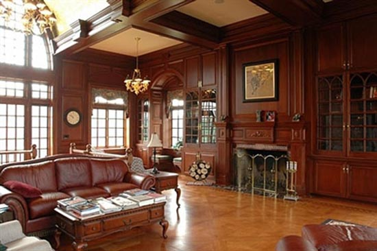 Luxury Mansion Living Room : Had to give Rob a head board he couldnt break *snickers* Unless...