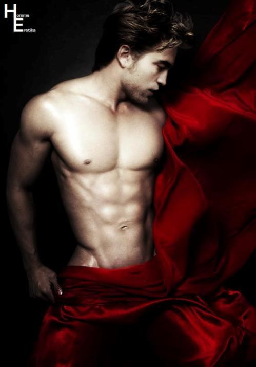 male model naked with sheet