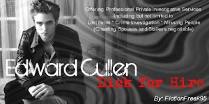 Edward Cullen, Dick for Hire by FictionFreak95 banner
